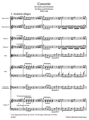 Georg Friedrich Händel: Konzert In B-Dur Für Harfe Und Orchester: Harp