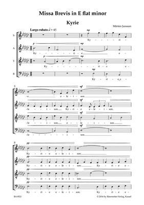 Marten Jansson: Missa brevis E flat minor: Mixed Choir