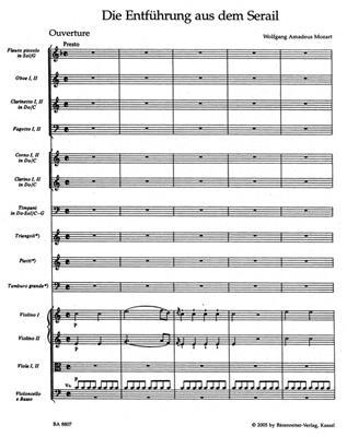 Wolfgang Amadeus Mozart: Die Entführung Aus Dem Serail Overture: Orchestra