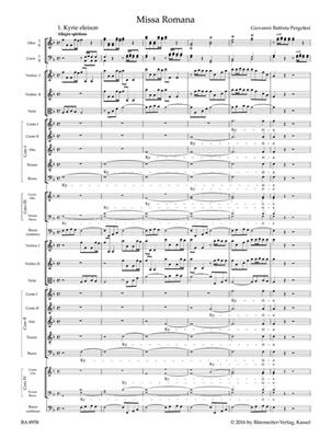 Giovanni Battista Pergolesi: Mass in F major - Missa Romana: Mixed Choir