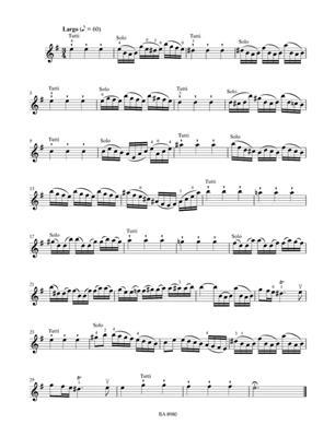 Antonio Vivaldi: Concerto For Violin In G Op.3/3: Violin
