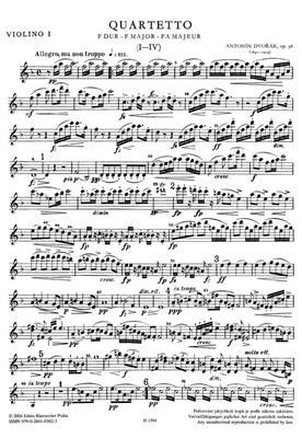 Antonín Dvořák: String Quartet No.12 In F 'American' Op.96: String Quartet