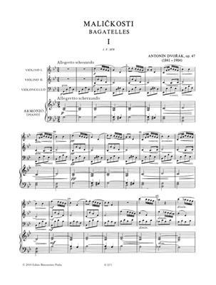 Antonín Dvořák: Bagatelles Op.47 For Piano Quartet: Piano Quartet