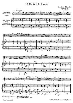Benedetto Marcello: Sonaten 1 F D Op.2: Recorder