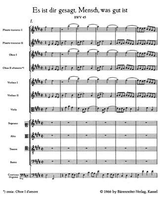 Johann Sebastian Bach: Cantata BWV 45 Es Ist Dir Gesagt: SATB
