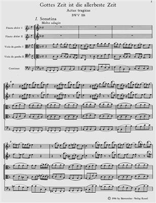 Johann Sebastian Bach: Gottes Zeit Ist Die Allerbeste Zeit: SATB