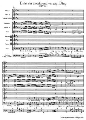 Johann Sebastian Bach: Cantata BWV 176: SATB