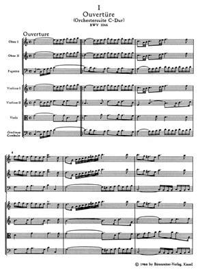 Johann Sebastian Bach: Orchestral Suite - Overture No.1 In C BWV 1066: Ensemble