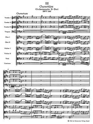 Johann Sebastian Bach: Orchestral Suite - Overture No.3 In D BWV 1068: Ensemble