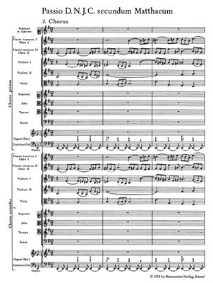 Johann Sebastian Bach: St Matthew Passion BWV 244: Orchestra