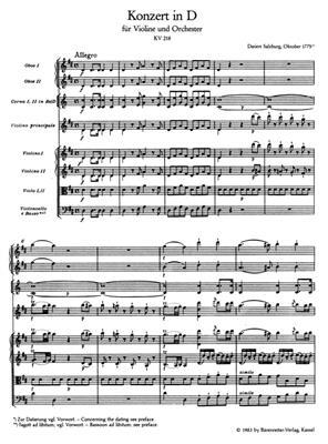 Wolfgang Amadeus Mozart: Violin Concerto No.4 in D major K.218: Violin