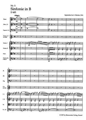 Franz Schubert: Symphony No. 5 B flat major D 485: Orchestra