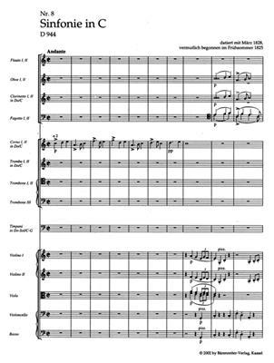 Franz Schubert: Symphony No. 8 C major D 944: Orchestra