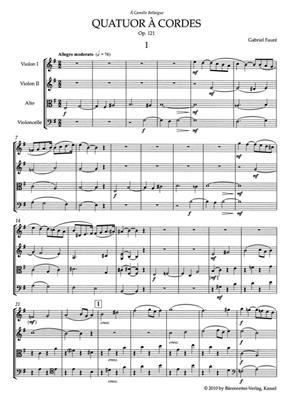 Gabriel Fauré: Quatuor à Cordes Op.121 - Study Score: Trumpet