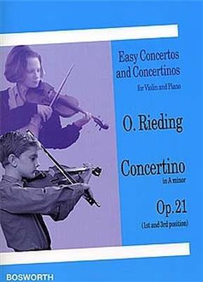 Oscar Rieding: Concertino in A Minor Op. 21: Violin