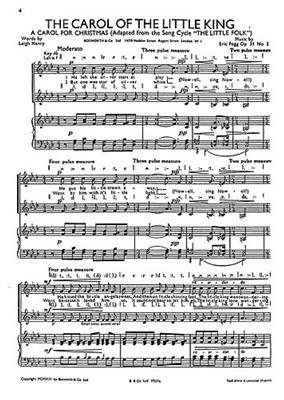 Fogg, E Carol Of The Little King And Jesukin Sa: Women's Choir