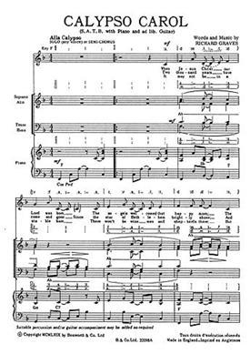 Calypso Carol: Mixed Choir