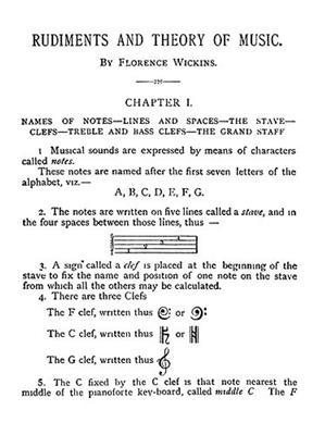 Florence Wickens: Rudiments And Theory Of Music: Instrumental