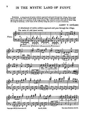 Albert Ketèlbey: In The Mystic Land Of Egypt (Piano): Piano or Keyboard