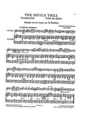 Giuseppe Tartini: Giuseppe Tartini: The Devil's Trill: Arr. (Jeno Hubay): Violin