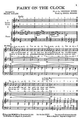 Myers, S Fairy On The Clock Sa: Women's Choir