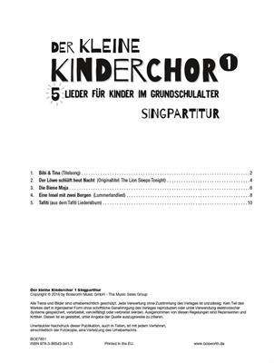 Der Kleine Kinderchor Band 1: Children's Choir