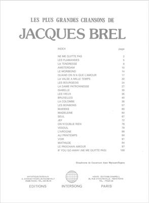 Jacques Brel: Jacques Brel Plus Grandes Chansons: Voice