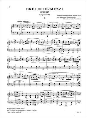 Johannes Brahms: Drei Intermezzi, Op.117, for Piano: Piano