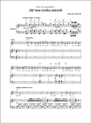 Vincenzo Bellini: Ah! non credea mirarti, da La Sonnambula: Soprano