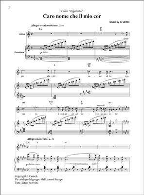 Giuseppe Verdi: Caro nome che il mio cor, da Rigoletto: Soprano