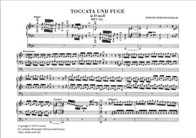 Johann Sebastian Bach: Toccata und Fugue in D-Moll, BWV 565, for Organ: Organ
