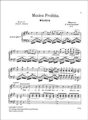Stanislao Gastaldon: Musica Proibita Op.5 Per Soprano O Tenore: Voice