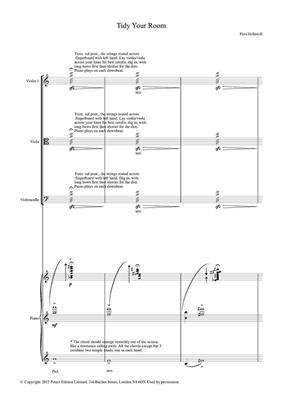 Piers Hellawell: Tidy Your Room (Score/Parts): Piano Quartet