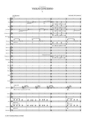 Michael Zev Gordon: Violin Concerto (Study Score): Violin