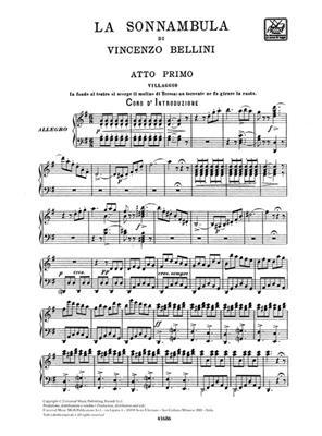 Vincenzo Bellini: La Sonnambula - Opera Vocal Score: Voice