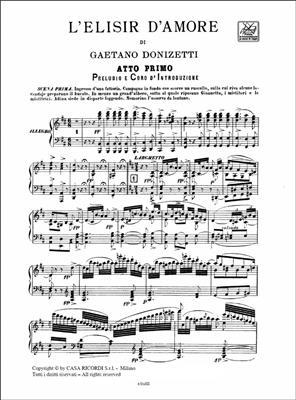 Gaetano Donizetti: L'elisir d'amore: Voice