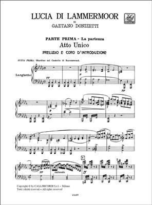 Gaetano Donizetti: Lucia di Lammermoor: Opera