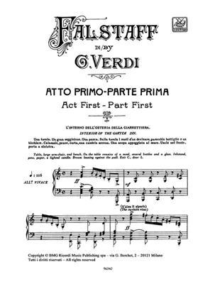 Giuseppe Verdi: Falstaff - Opera Vocal Score: Opera