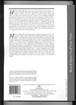 Giacomo Puccini: Madame Butterfly: Voice