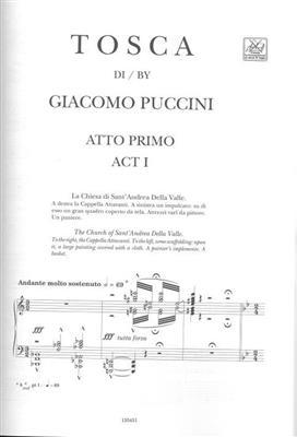 Giacomo Puccini: Tosca - Opera Vocal Score: Opera