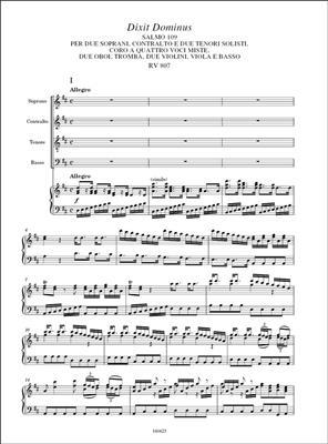 Antonio Vivaldi: Dixit Dominus RV 807: Voice