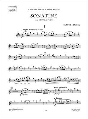 Claude Arrieu: Sonatine: Flute