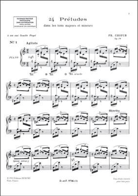 Frédéric Chopin: Préludes Op. 28: Piano or Keyboard