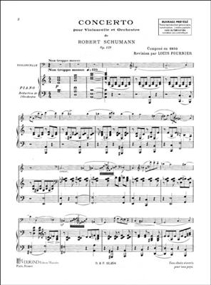 Robert Schumann: Concerto For Cello And Piano: Cello