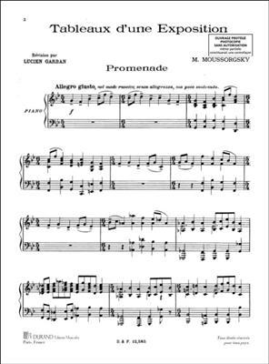 Tableaux D'Une Exposition, Pour Piano (L. Garban)