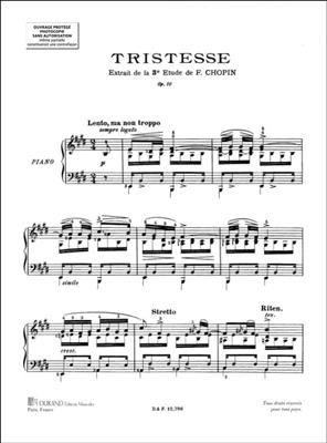 Frédéric Chopin: Tristesse Op. 3 No. 10: Piano or Keyboard