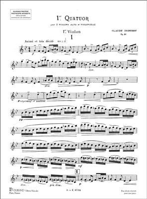 Claude Debussy: Premier Quatuor Op. 10: String Quartet