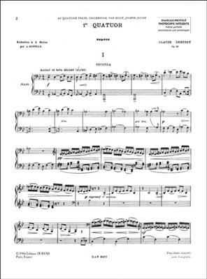 Claude Debussy: Premier Quatuor: Piano Duet
