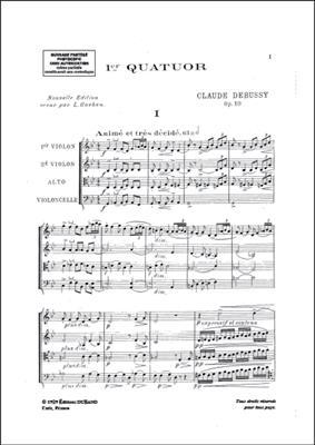 Claude Debussy: Premier Quatuor: String Quartet