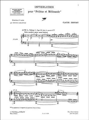 Claude Debussy: Interludes pour Pelléas et Mélisande: Piano or Keyboard